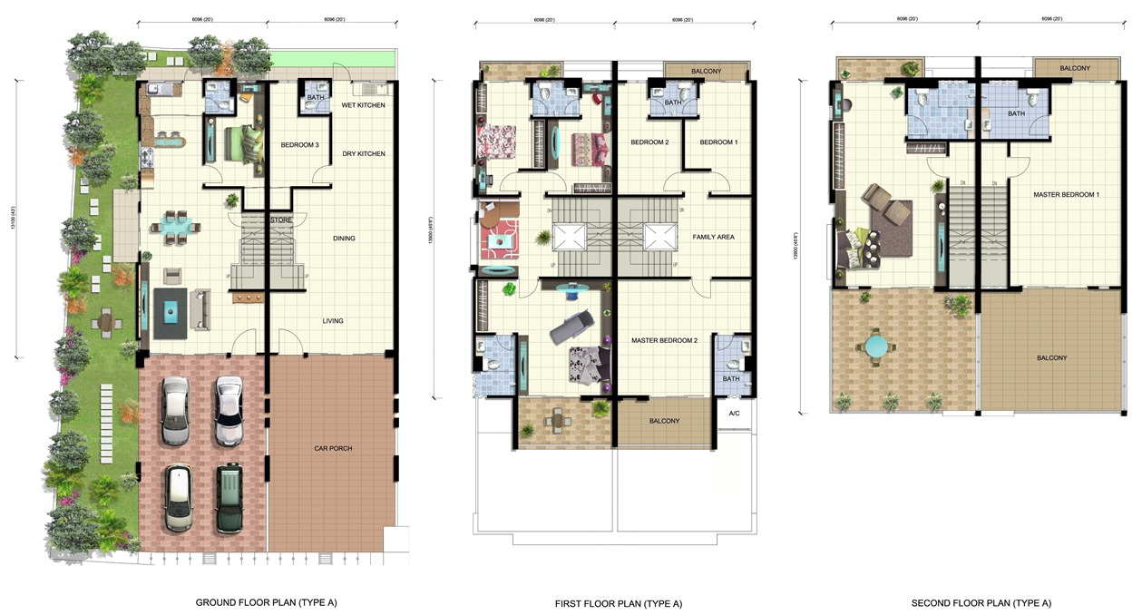 Orange garden tah wah group Three d house plans